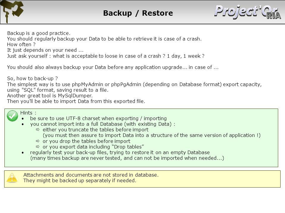 Backup / Restore [CTRL]+S Backup is a good practice.